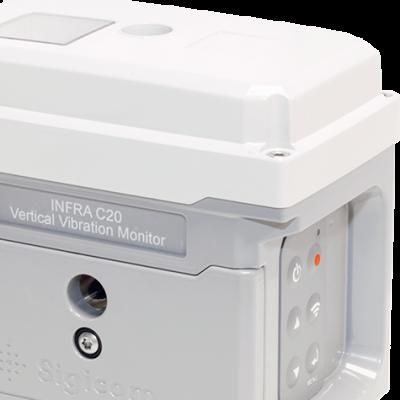 INFRA C20 är en trådlös digital geofon, med inbyggd datalogger GSM/GPRS kommunikation