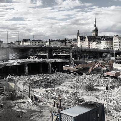 INFRA Sigicom Vibrationsmätning Byggarbetsplats Slussen 2018